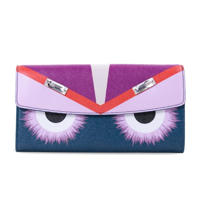 Fendi Multicolor Leather Continental Flap Wallet
