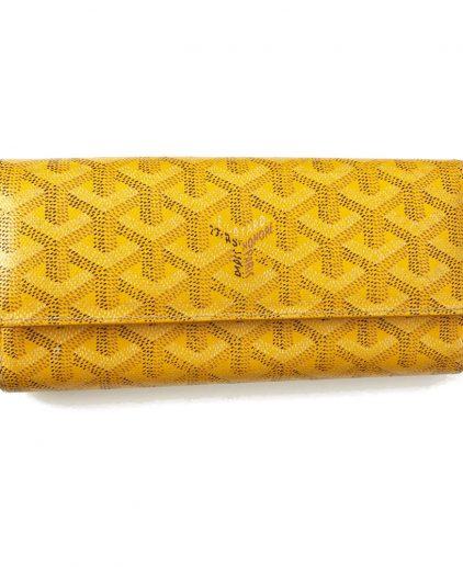 Goyard Yellow Varenne Long Wallet