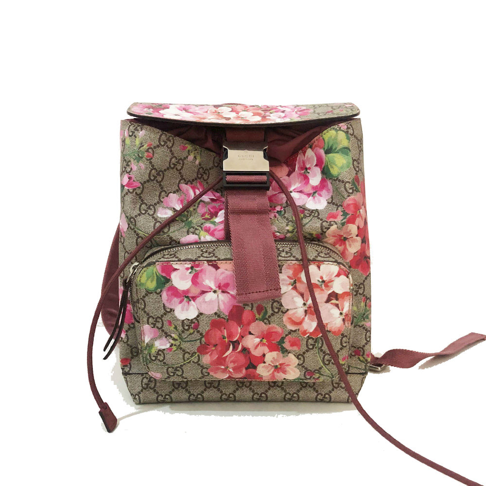 ac0d0169a28bbf My Luxury Bargain GUCCI GG SUPREME MONOGRAM BLOOMS SMALL BACKPACK 1 ...