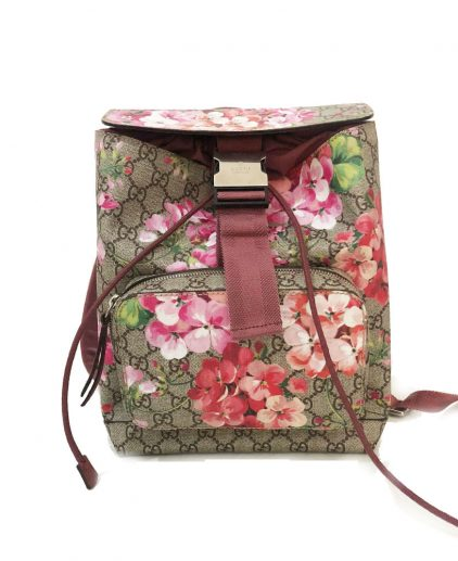 Gucci GG Supreme Monogram Blooms Small Backpack