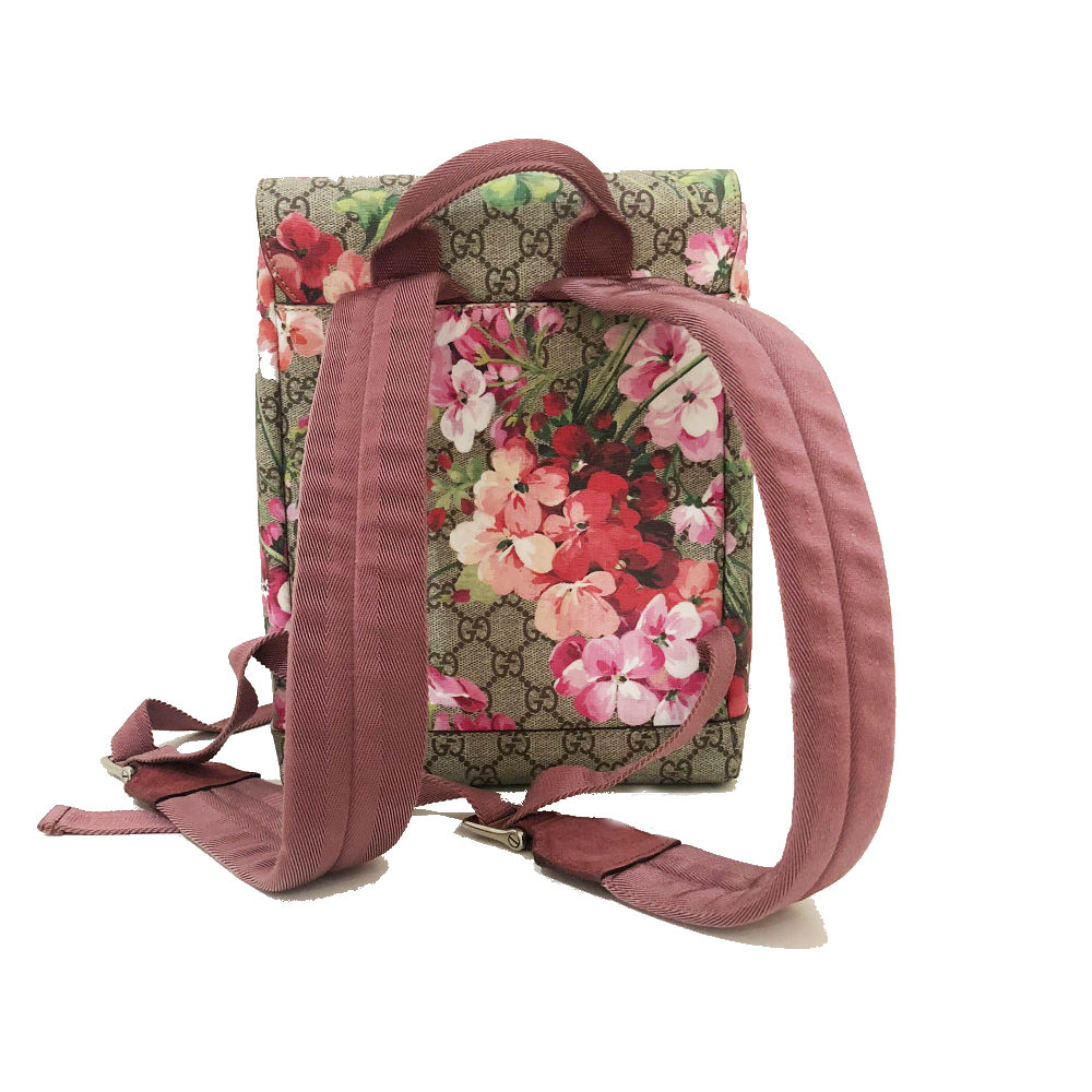 085ed26278562f My Luxury Bargain GUCCI GG SUPREME MONOGRAM BLOOMS SMALL BACKPACK 5 ...