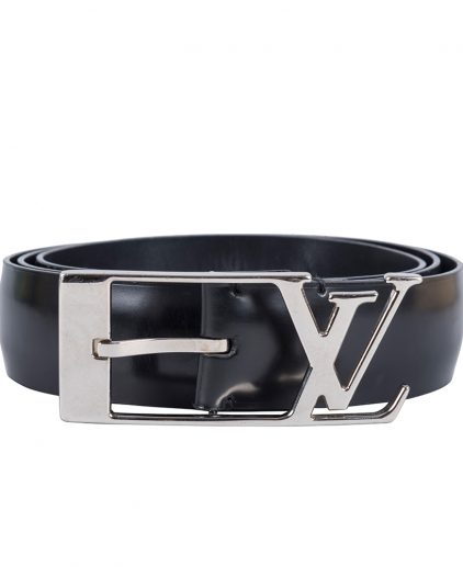 Louis Vuitton Black Leather Neogram Belt