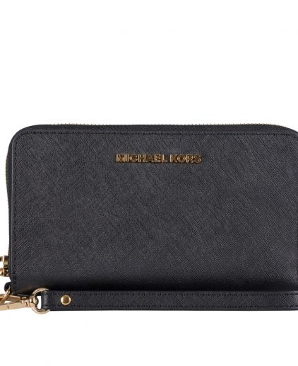 Michael Kors Mercer Black Wristlet Wallet