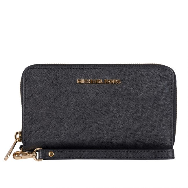 Michael Kors Mercer Black Wristlet Wallet