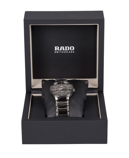 Rado Black Centrix Automatic utc Mens Wristwatch