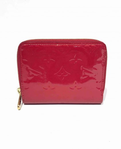 Louis Vuitton Bright Red Vernis Leather Short Zippy Wallet