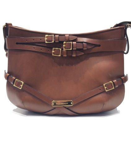 Burberry Brown Leather Dutton Shoulder Handbag