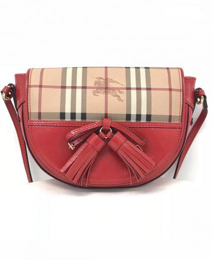 Burberry Red Classic Maydown Crossbody Bag
