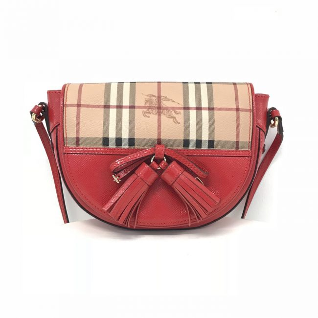 Burberry Red Classic Maydown Crossbody Bag