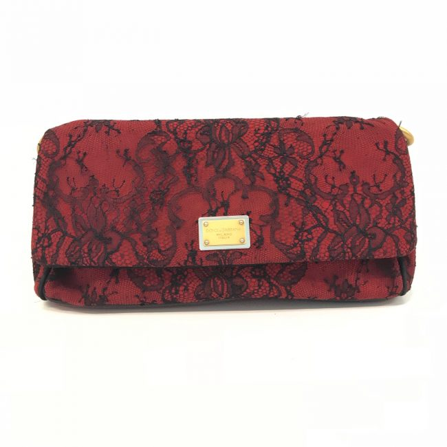 Dolce And Gabbana Red Miss Charles Shoulder Bag