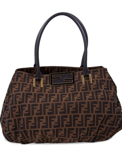 Fendi Tobacco Zuca Canvas Hobo Handbag