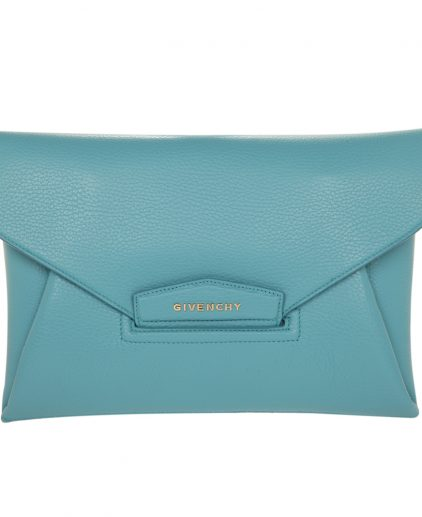 Givenchy Blue Oxygen Leather Envelope Antigona Clutch