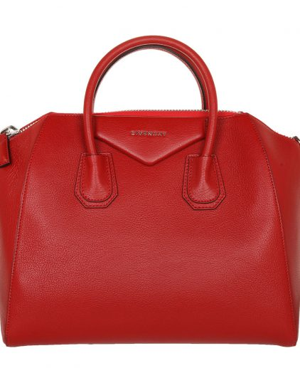 Givenchy Red Leather Medium Antigona Satchel Handbag