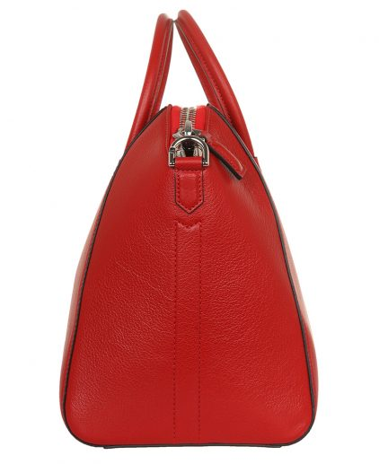 Givenchy Red Leather Medium Antigona Satchel Handbag