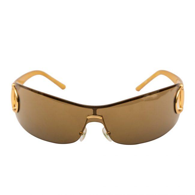 Gucci Brown Horsebit Shield Sunglasses