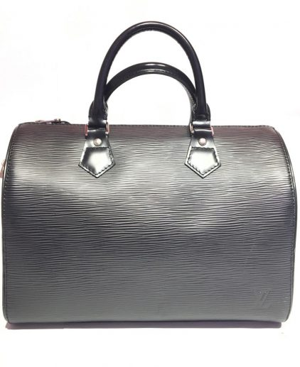 Louis Vuitton Black Epi Leather Speedy 30 Handbag