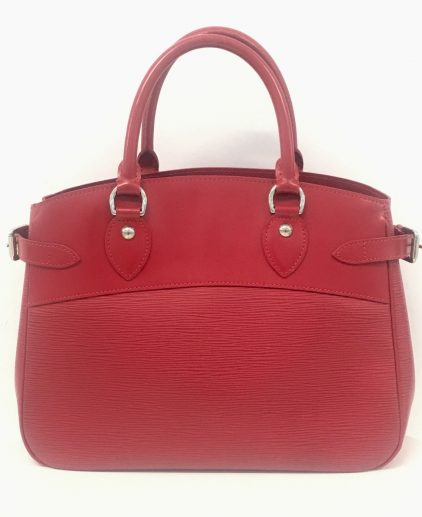 Louis Vuitton Red Epi Leather Passy PM Handbag