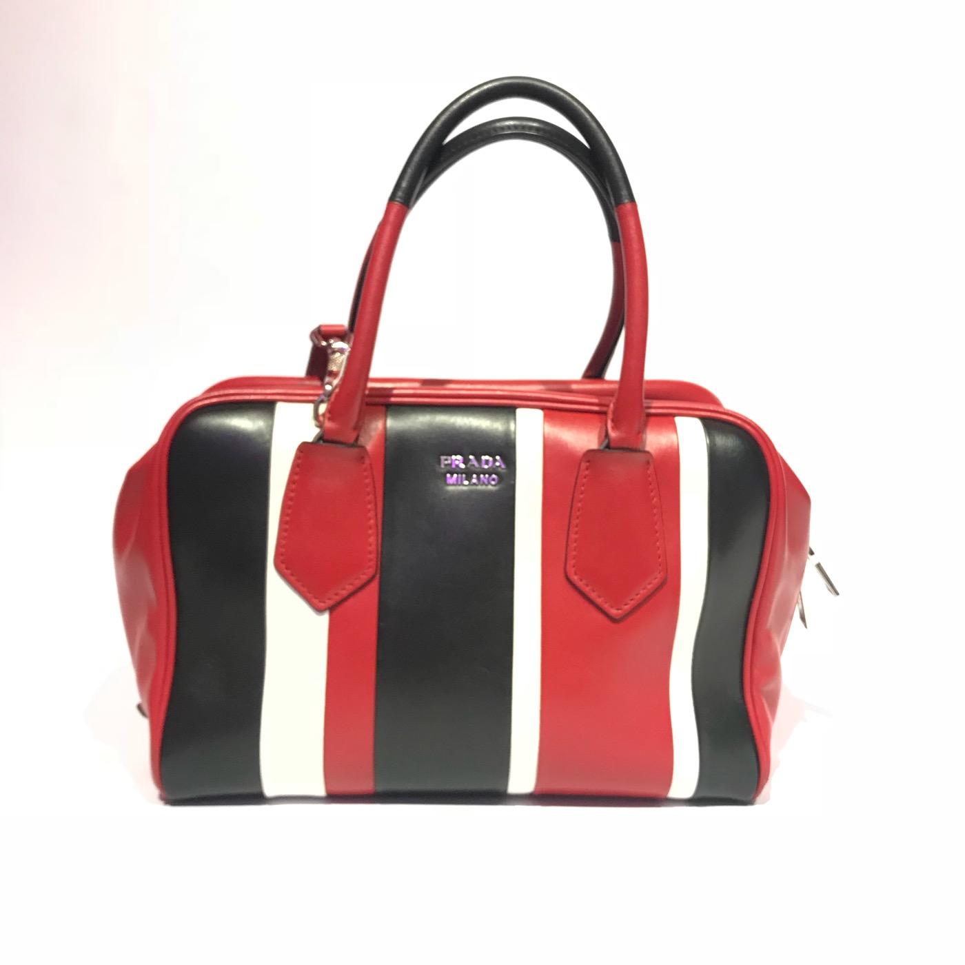 0bd38076386f ... closeout prada multicolor nappa leather top handle handbag b8210 2f88a