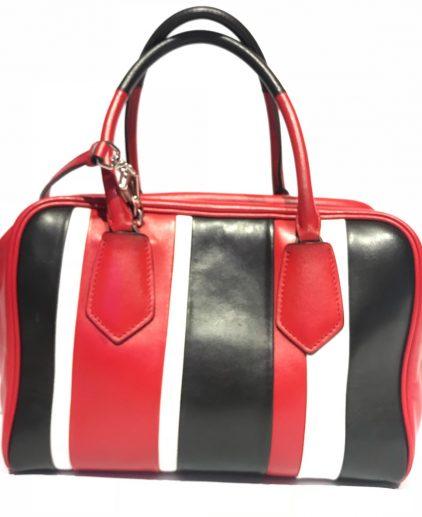Prada Multicolor Nappa Leather Top Handle Handbag