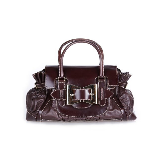 Gucci Brown Large Queen Satchel Handbag
