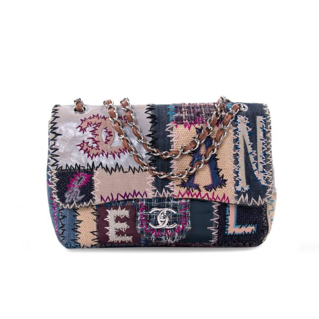 Chanel Multicolor Patchwork Jumbo Classic Flap Bag