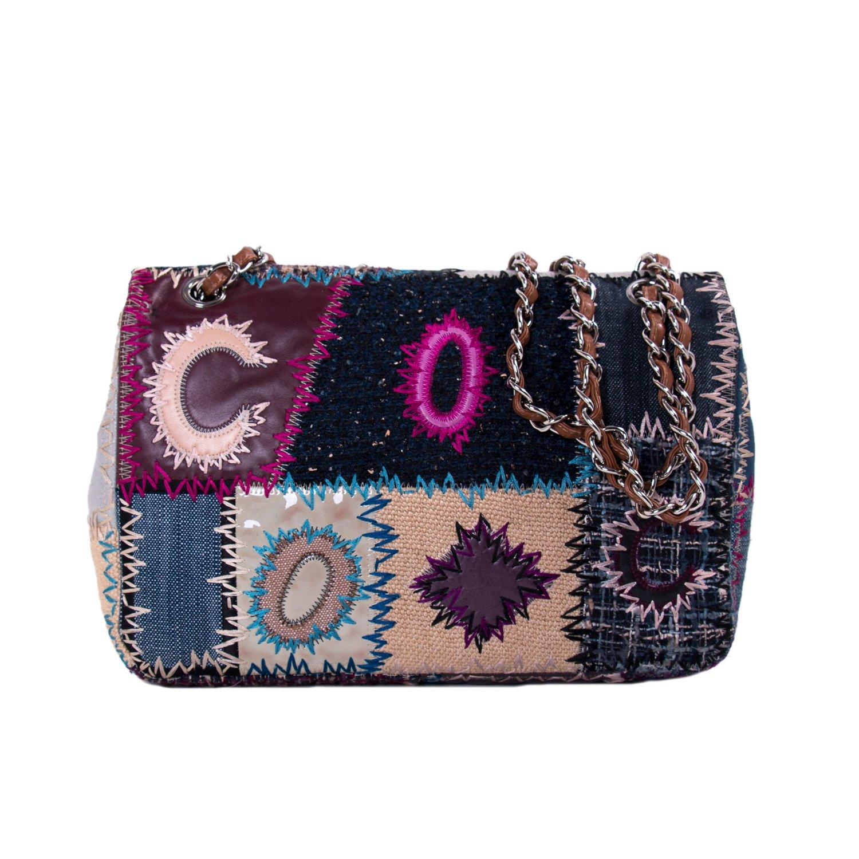 2b135af51f02 Chanel Multicolor Patchwork Jumbo Classic Flap Bag