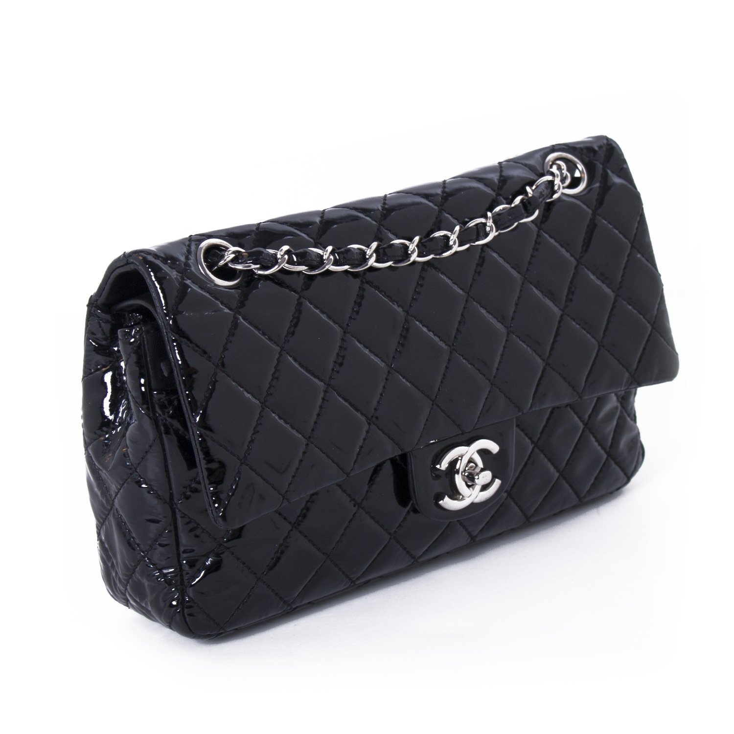 c28156a5a38a41 2-Chanel-Medium-Patent-Leather-Double-Flap-Bag-3.jpg