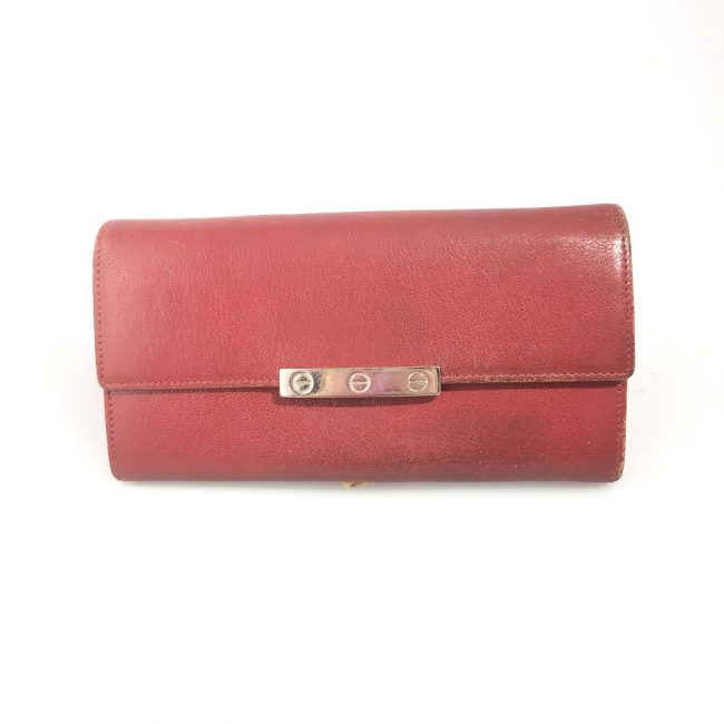 Cartier Red Leather Love Continental Wallet