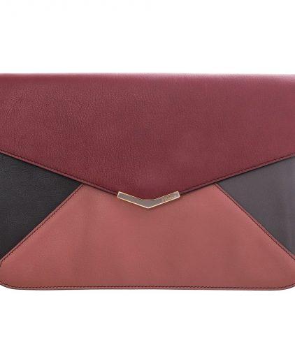 Fendi Multicolor Leather 2Jour Envelope Clutch