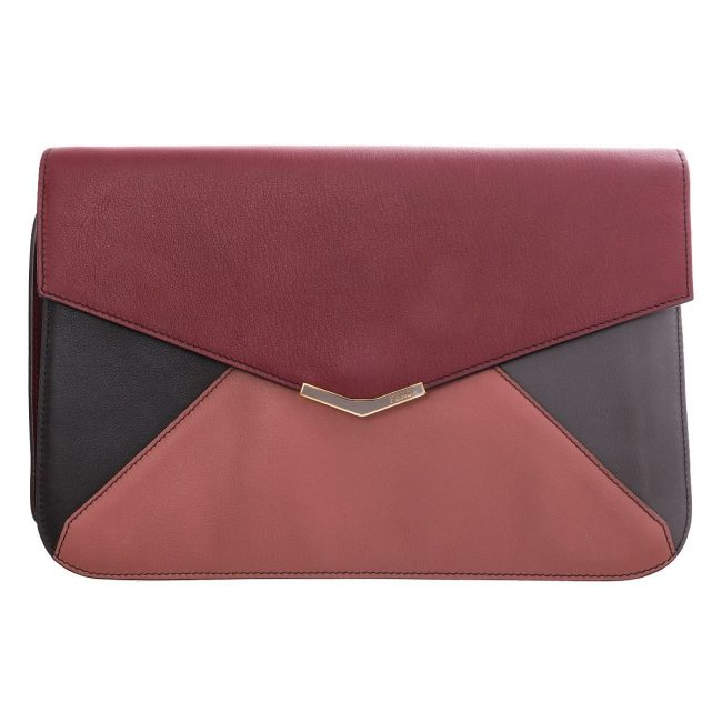 Fendi Multicolor Leather 2Jour Envelope Clutch