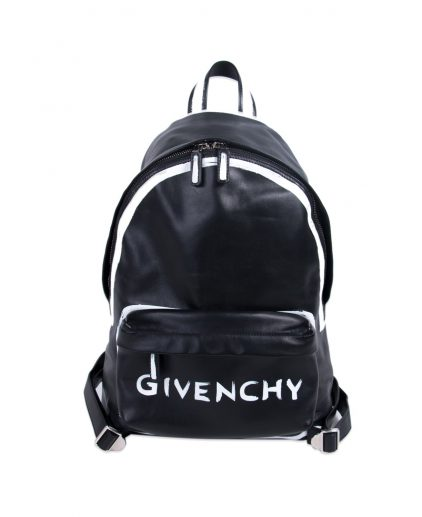 Givenchy Black Leather Graffiti Logo Backpack