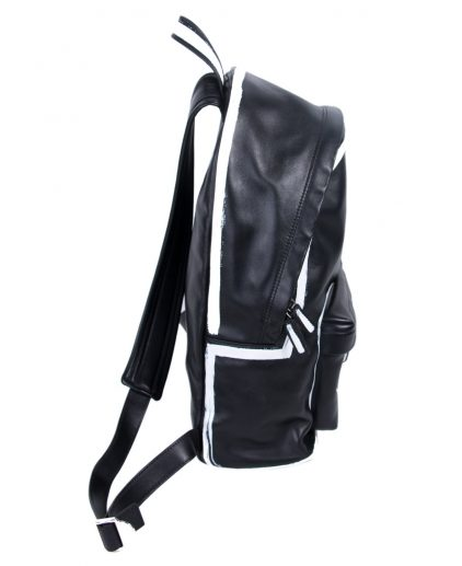 Givenchy Black Leather Graffiti Logo Backpack