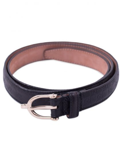 Gucci Black Guccissima Leather Belt
