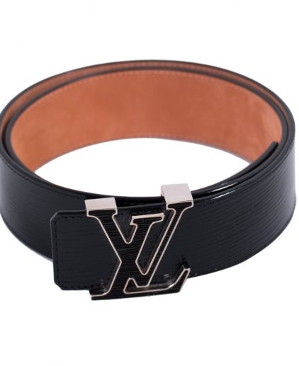 Louis Vuitton Black Epi Leather Initials Belt 95cm