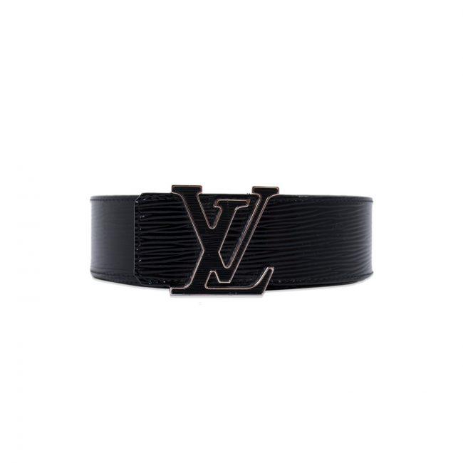 Louis Vuitton Black Epi Leather Initials Belt 95cm