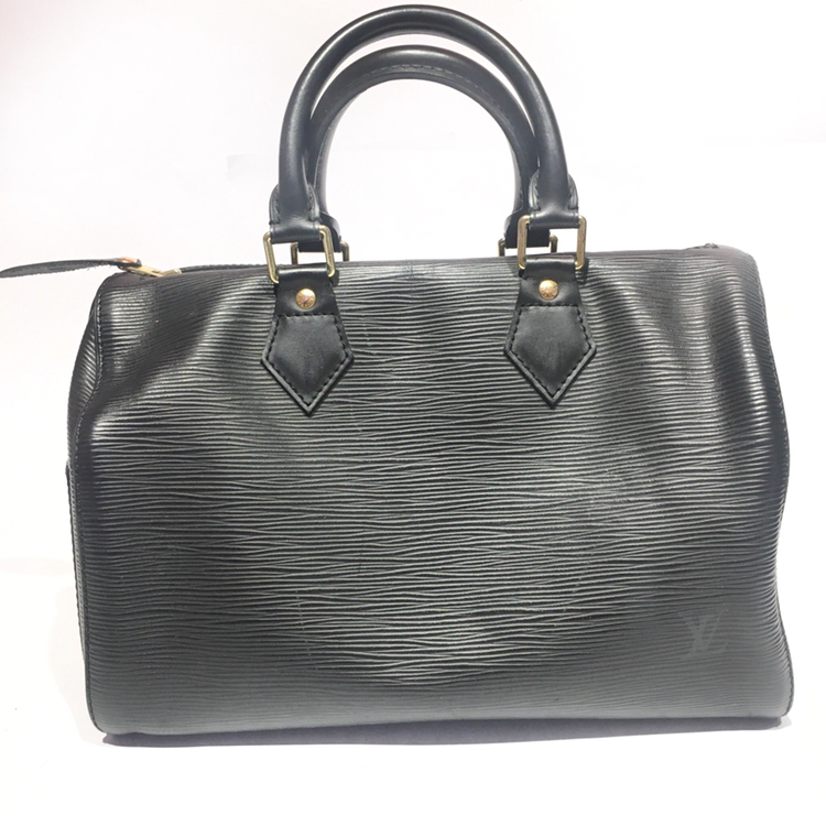LOUIS VUITTON NOIR EPI LEATHER SPEEDY 25 HANDBAG - My Luxury Bargain fa923a74f8