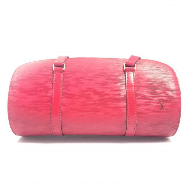 Louis Vuitton Red Epi Leather Soufflot Handbag