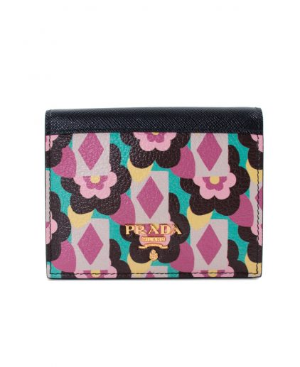 Prada Multicolor Leather Flap Wallet