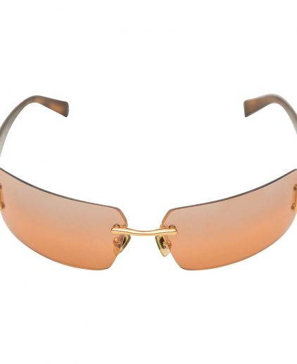 Versace Brown Rimless Sunglasses