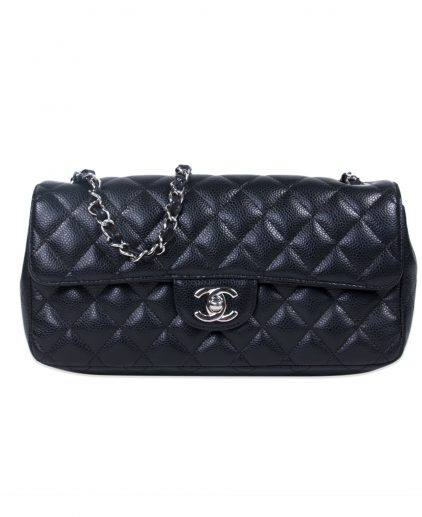 Chanel Black Caviar Leather Classic Flap Bag