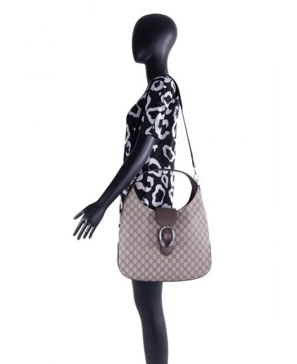 Gucci Brown Canvas Leather Dionysus Shoulder Bag