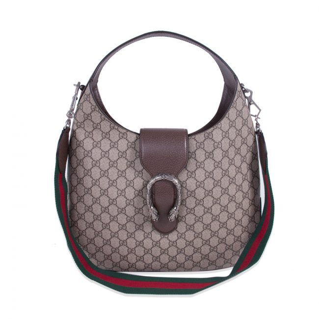 Gucci Brown Canvas Leather Dionysus Shoulder Bag