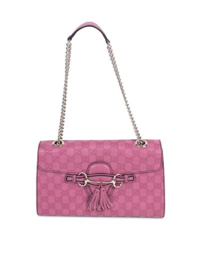 Gucci Pink Leather Medium Emily Shoulder Handbag