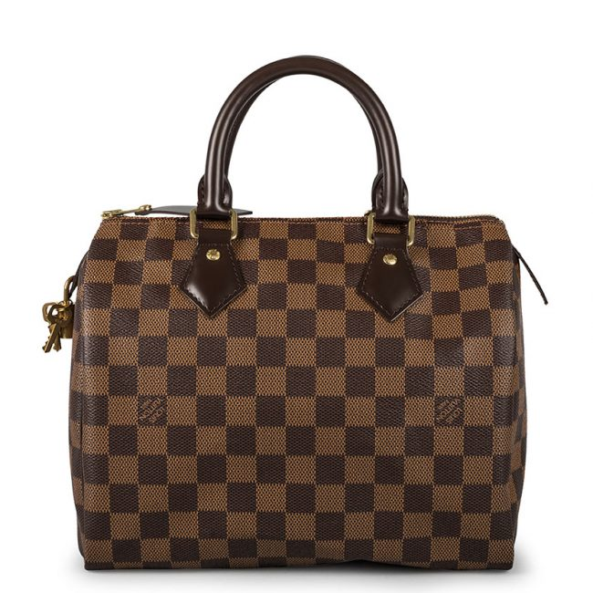 Louis Vuitton Damier Ebene Canvas Speedy 25