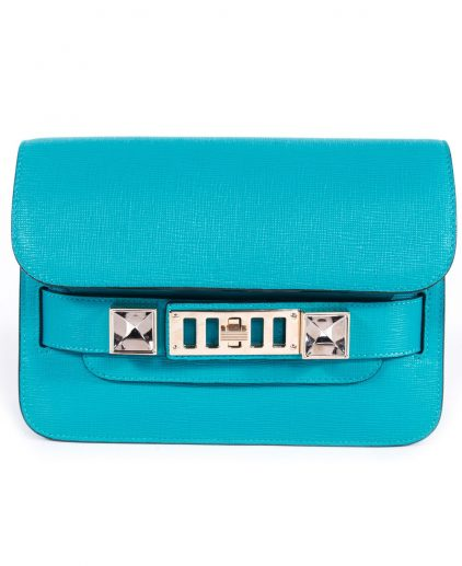 Proenza Schouler Blue Mini Classic PS11 Shoulder Bag