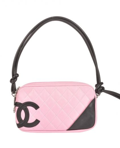 Chanel Black Pink Mini Cambon Bowler Handbag