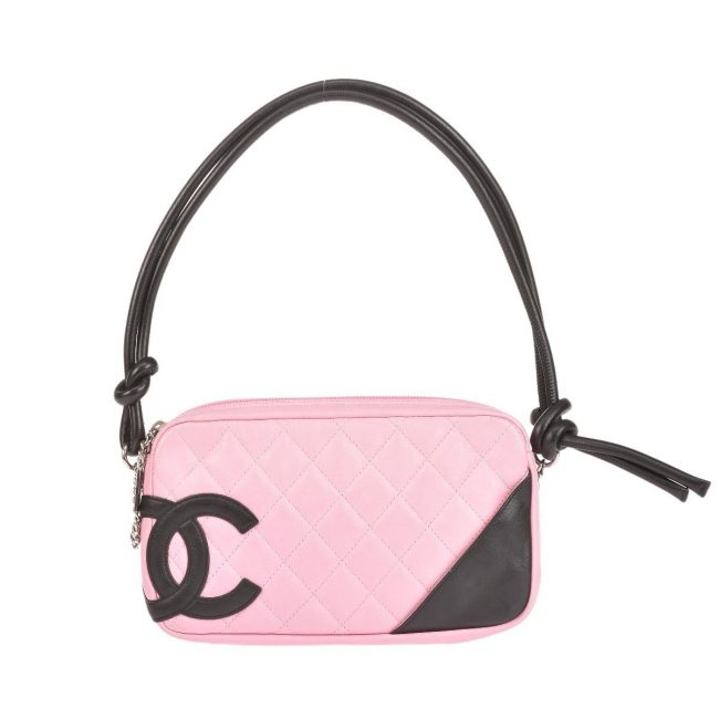 Chanel Black Pink Mini Cambon Bowler Handbag