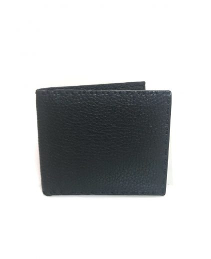 Fendi Black Leather Bi Fold Mens Wallet