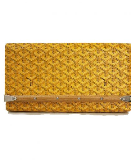 Goyard Yellow Monte Carlo Bios Clutch