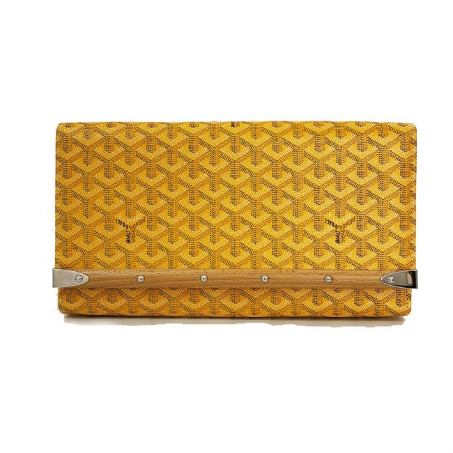 Goyard Yellow Monte Carlo Bios Clutch